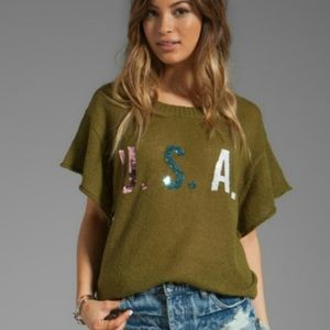 Wildfox Team USA Lake House Sweater Tee